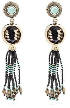 Etro Bead-embellished tassel-drop earrings