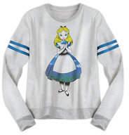 Disney Alice Long Sleeve Fashion Tee for Juniors