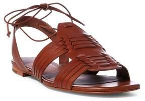Polo Ralph Lauren | Jaida Vachetta Leather Sandal | 11 us | Brown