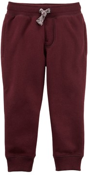 Carter's Toddler Boy Fleece Pull On Maroon Jogger Pants