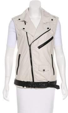 BLK DNM Leather Tailored Vest