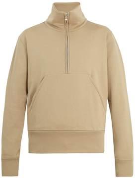Acne Studios Fuller funnel-neck zip-up cotton sweatshirt