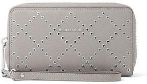 MICHAEL Michael Kors Large Saffiano Grommet Wristlet Wallet/Phone Case - IRIS - STYLE
