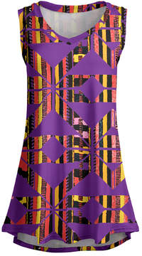 Lily Purple & Red Abstract Line Sleeveless Tunic - Women & Plus