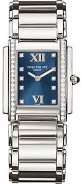 Patek Philippe 4910-10A-012 Stainless Steel with Diamond 25mm Womens Watch