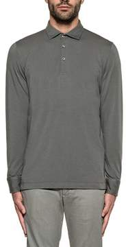 H953 Men's Grey Cotton Polo Shirt.