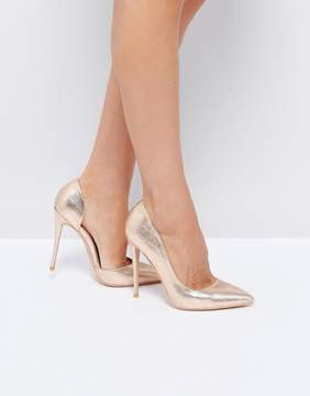 Public Desire Margi Rose Gold Heeled Shoes