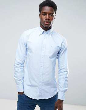 Benetton Button Down Oxford Shirt In Regular Fit In Blue