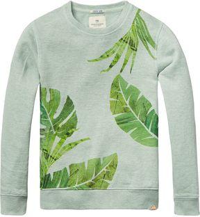 Scotch & Soda Botanical Print Sweatshirt