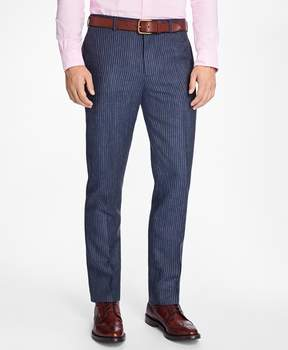 Brooks Brothers Slim-Fit Pinstripe Linen Suit Trousers