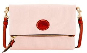 Dooney & Bourke Nylon Foldover Zip Crossbody Shoulder Bag - BLUSH - STYLE