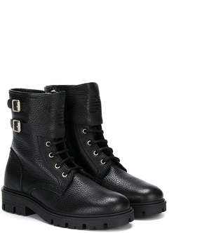 Armani Junior shearling-lined ankle boots