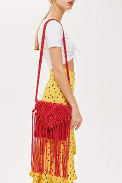 Topshop Fringed Cross Body Bag