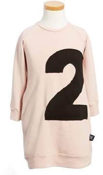 Nununu Toddler Girl's Puffy Number Sweashirt Dress