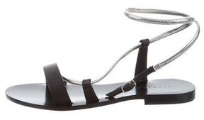 Barbara Bui Leather Chain-Embellished Sandals w/ Tags