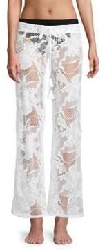 Pilyq Flora Lace Cover-Up Pants
