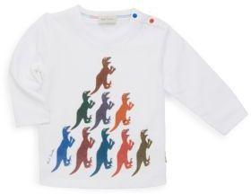 Paul Smith Dinosaur Long Sleeve Cotton Tee