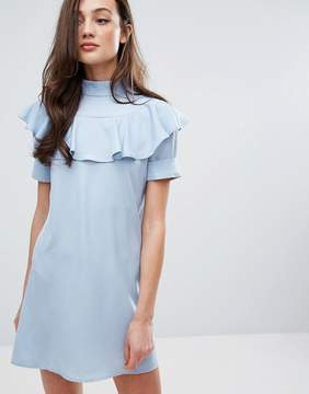 Fashion Union Frill Front Shift Dress