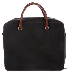 Bottega Veneta Leather-Trimmed Embossed Briefcase
