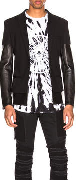 Balmain Leather Mix Jacket