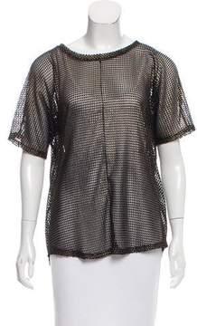 Alexandre Vauthier Textured Short Sleeve Top