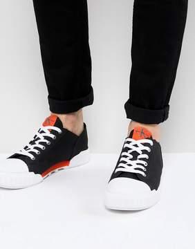 Calvin Klein Biff Chunky Sole Sneakers In Black