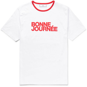 Ami Printed Cotton-Jersey T-Shirt
