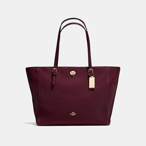 COACH Coach Turnlock Tote - LIGHT GOLD/OXBLOOD - STYLE