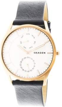 Skagen Men's Holst SKW6372 Rose-Gold Leather Japanese Quartz Fashion Watch