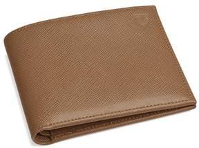 Aspinal of London Billfold Wallet In Camel Saffiano