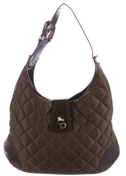 Burberry Quilted Nylon Hobo - BROWN - STYLE