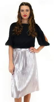 Ark & Co Sleek And Shine Silver Skirt