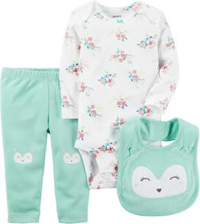 Carter's Baby Girls 3-pc. Floral Owl Layette Set