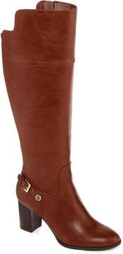 Liz Claiborne Alvis Heeled Riding Boots - Wide Calf, Wide Width