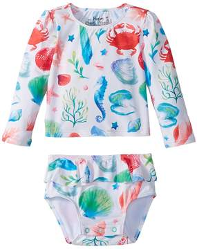 Hatley Ocean Treasures Mini Rashguard Set Girl's Swimwear Sets
