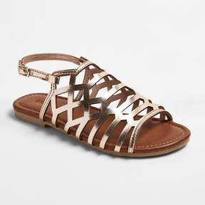 Stevies Girls' #CRISSCROSS Caged Cut Gladiator Sandals