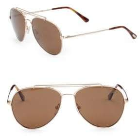 Tom Ford Georges 59MM Polarized Navigator Sunglasses