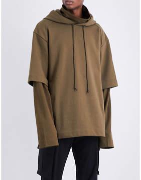 Juun.J JUUN J Layered-sleeve cotton-jersey hoody
