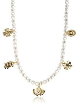 Aurelie Bidermann Women's Beige Metal Necklace.