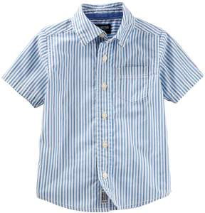 Osh Kosh Oshkosh Bgosh Toddler Boy Striped Button-Down Shirt