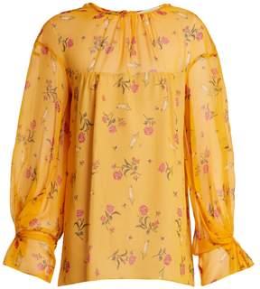 Emilia Wickstead Lauren rose-print silk-chiffon blouse