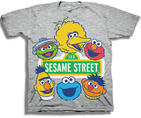 Freeze Toddler Boys S/S Sesame Street All Characters Graphic T-Shirt