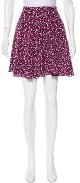 Amanda Uprichard Silk Floral Print Skirt