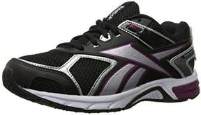 Reebok Women's Quickchase Running Shoe, Black/Silver/White/Rebel Berry, 5 M US