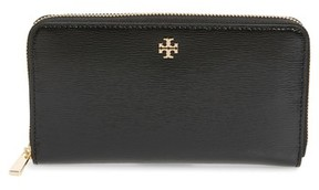 Tory Burch Women's Robinson Patent Leather Continental Wallet - Black - BLACK - STYLE