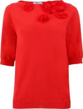 Blumarine Floral Knit Top