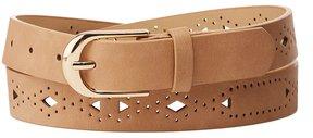 Charlotte Russe Plus Size Laser Cut Faux Leather Belt