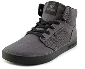 Supra Yorek Hi Youth Round Toe Synthetic Gray Skate Shoe.