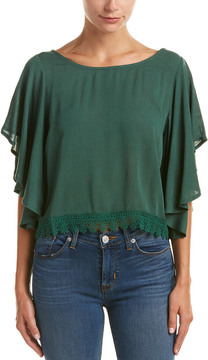 Flying Tomato Butterfly Sleeve Top