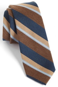 1901 Men's 'Spruce' Woven Silk & Wool Tie